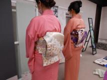 初級クラスの授業の様子~袋帯~