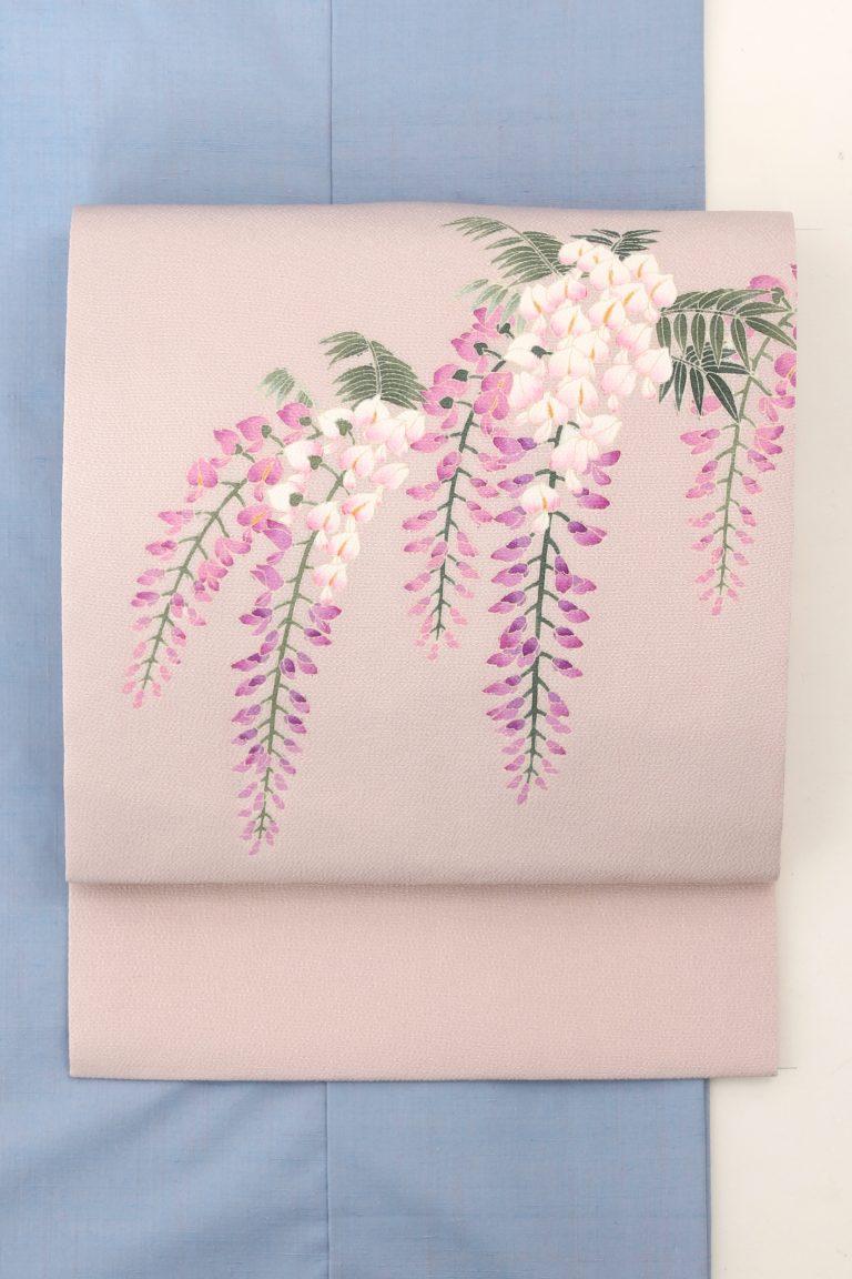 藤の花の帯